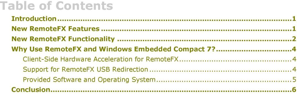 ..2 Why Use RemoteFX and Windows Embedded Compact 7?