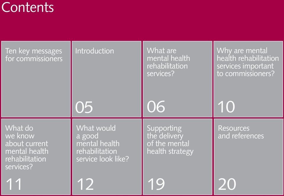 05 06 10 What do we know about current mental health rehabilitation services?