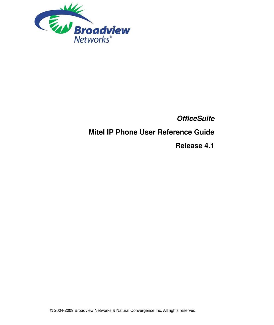 1 2004-2009 Broadview Networks &