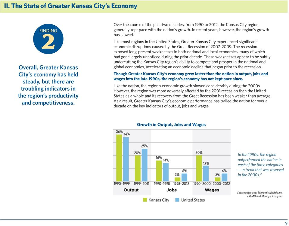 Like most regions in the United States, Greater Kansas City experienced significant economic disruptions caused by the Great Recession of 2007 2009.