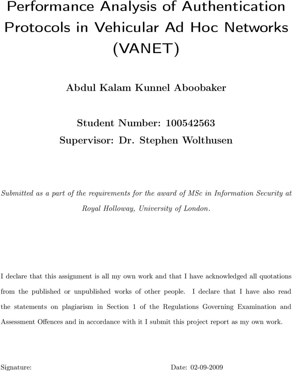 authentication in vanet The primary aim of mathematical problems in engineering is rapid publication and dissemination of important using bdh for the message authentication in vanet.