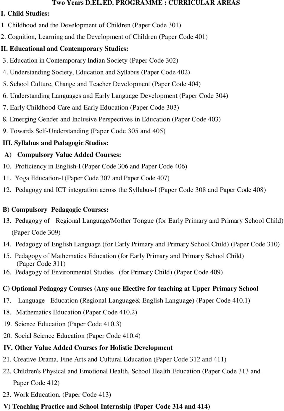 syllabus diploma in elementary education d el ed pdf understanding society education and syllabus paper code 402 5 school culture