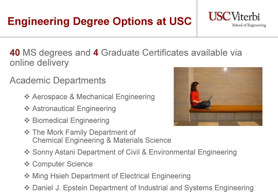 Department of Chemical Engineering & Materials Science Sonny Astani Department of Civil & Environmental Engineering