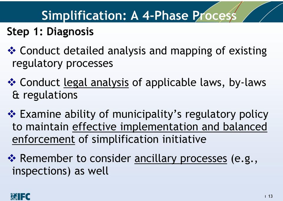 Examine ability of municipality s regulatory policy to maintain effective implementation and
