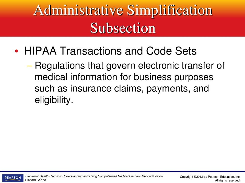 electronic transfer of medical information for