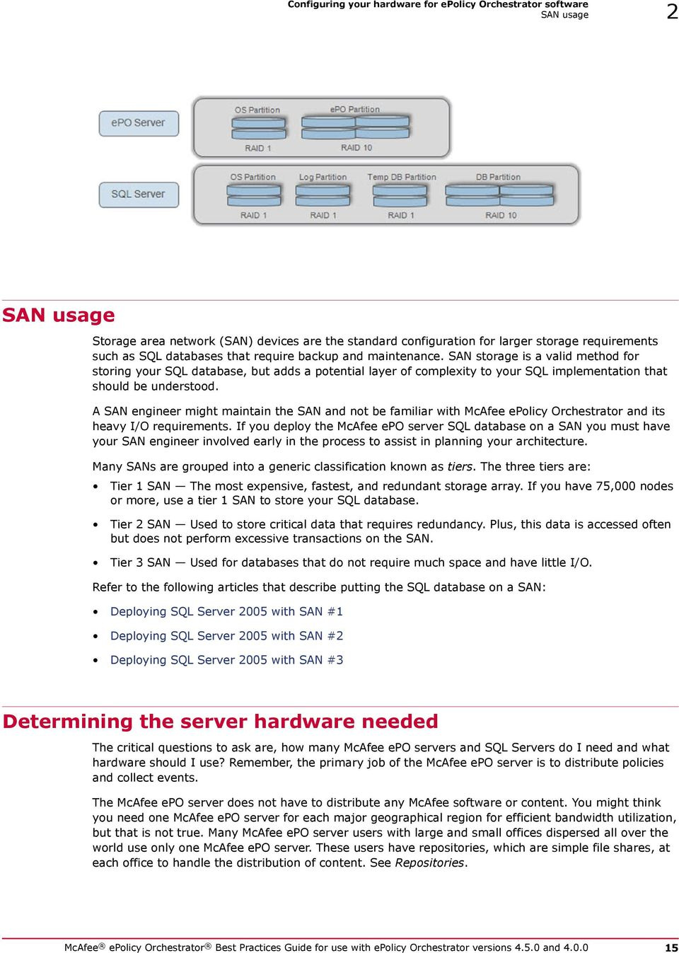 SAN storage is a valid method for storing your SQL database, but adds a potential layer of complexity to your SQL implementation that should be understood.