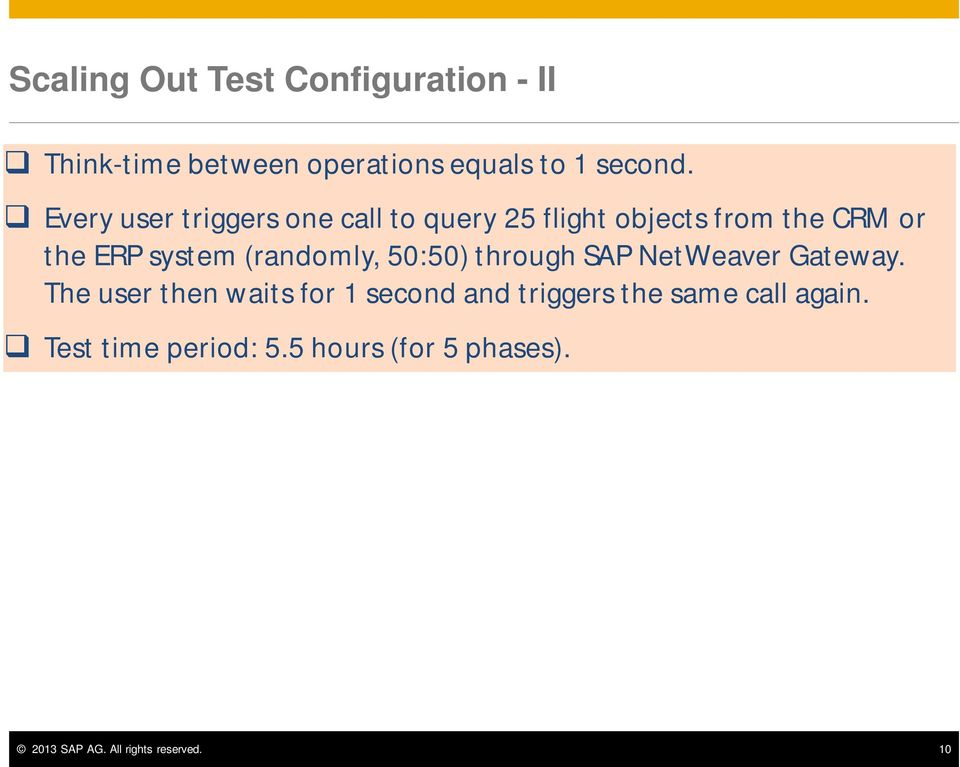 (randomly, 50:50) through SAP NetWeaver Gateway.