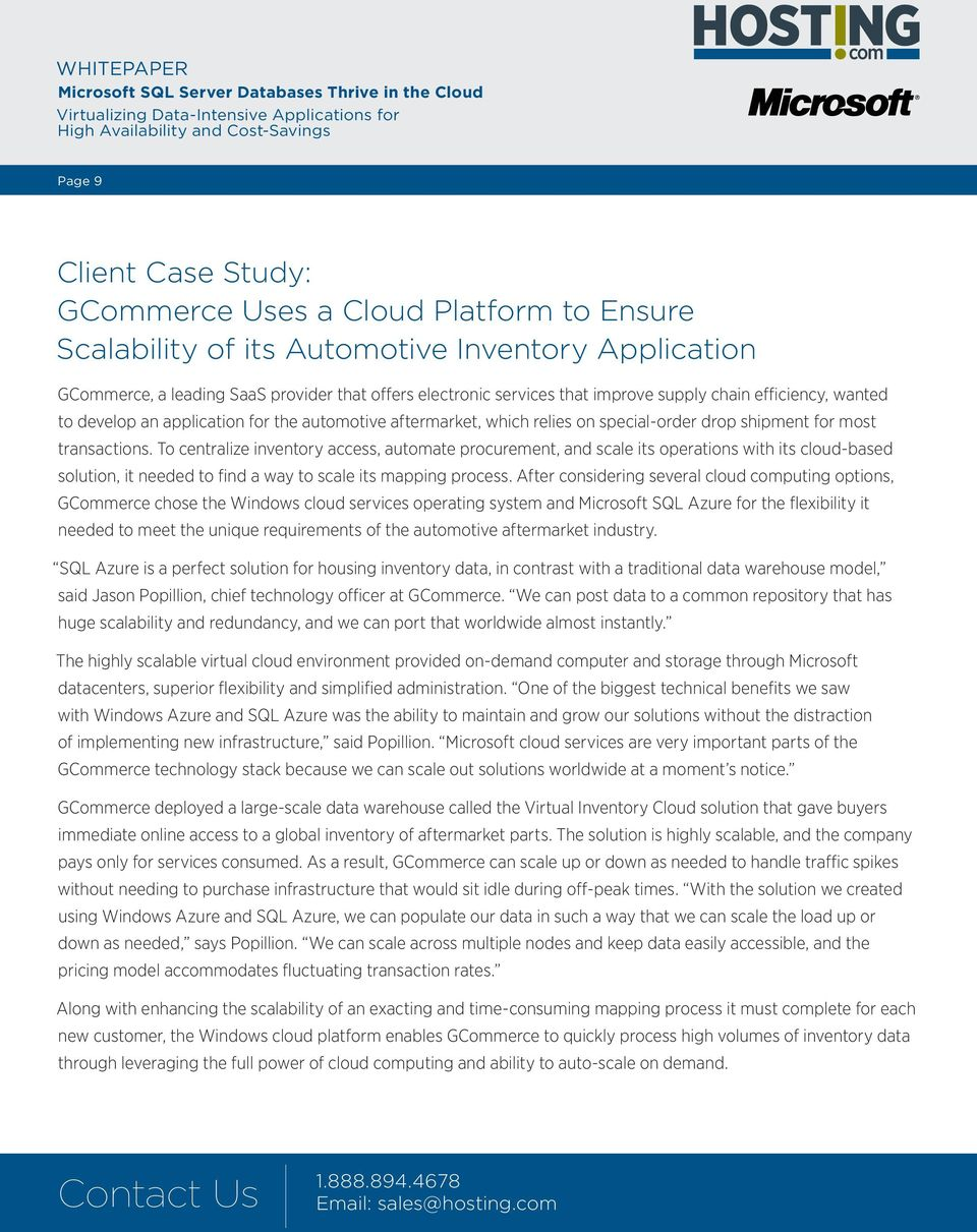 To centralize inventory access, automate procurement, and scale its operations with its cloud-based solution, it needed to find a way to scale its mapping process.