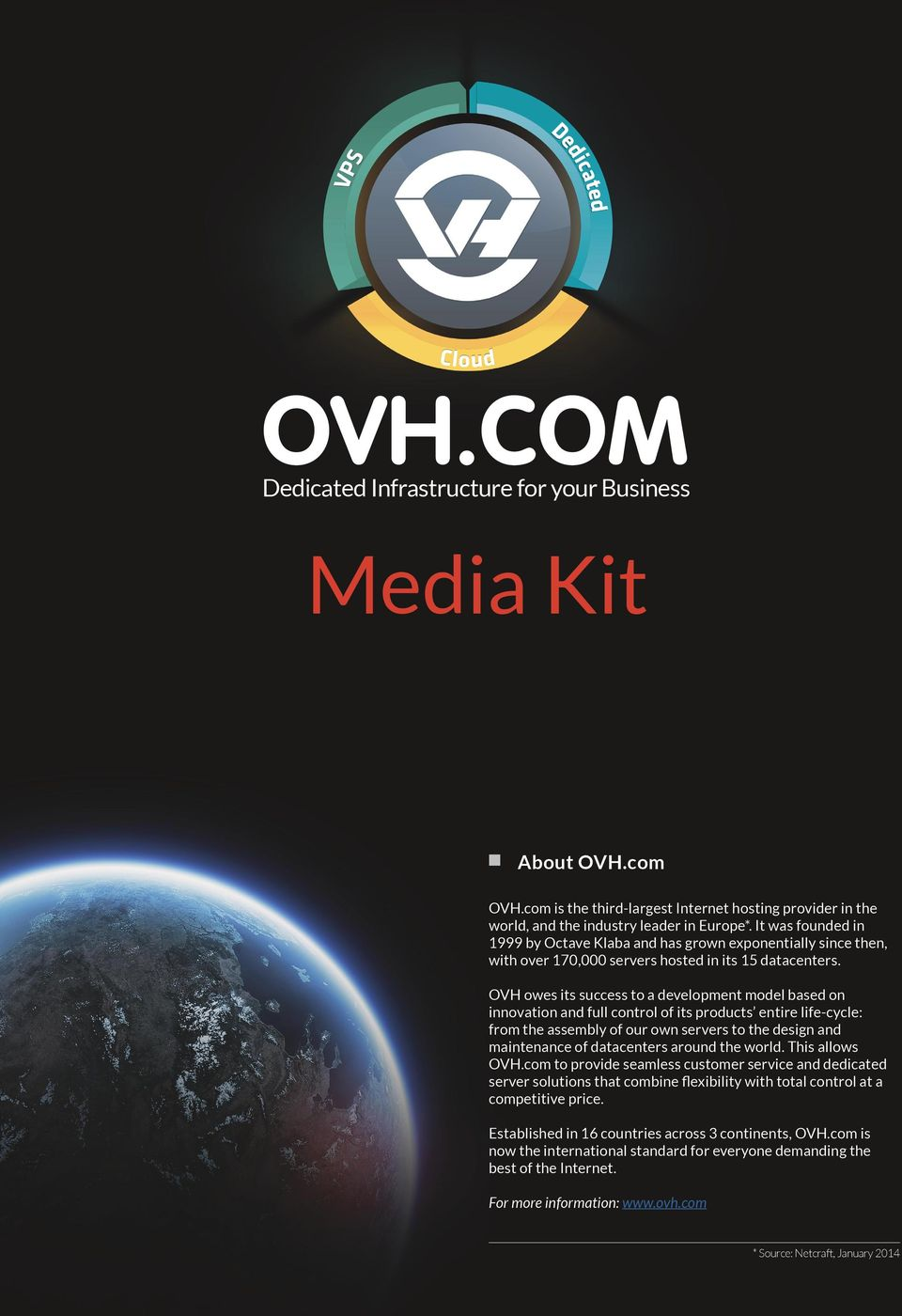 OVH owes its success to a development model based on innovation and full control of its products entire life-cycle: from the assembly of our own servers to the design and maintenance of datacenters