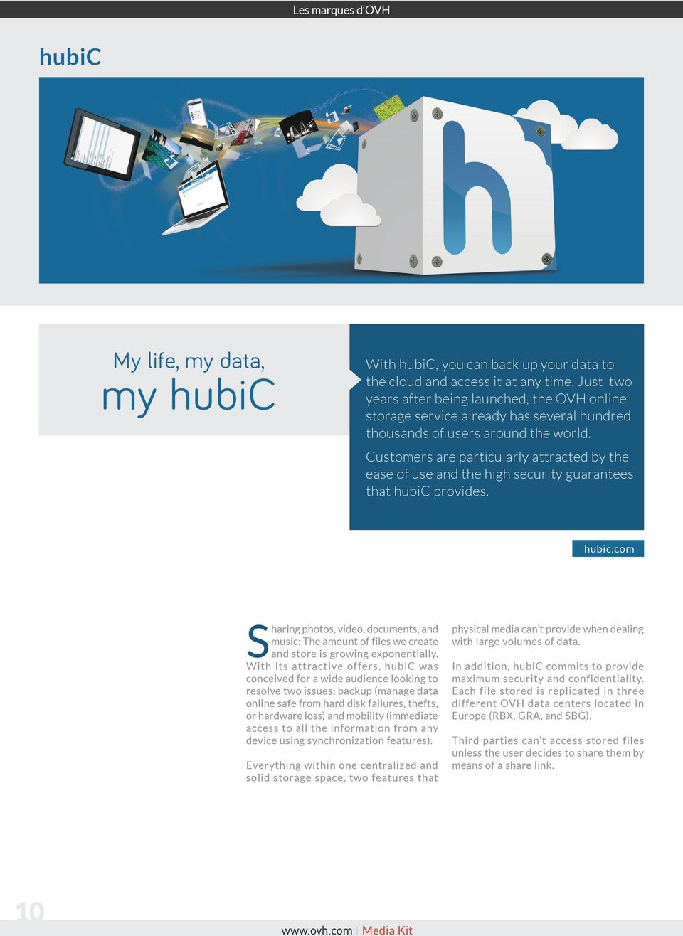 Customers are particularly attracted by the ease of use and the high security guarantees that hubic