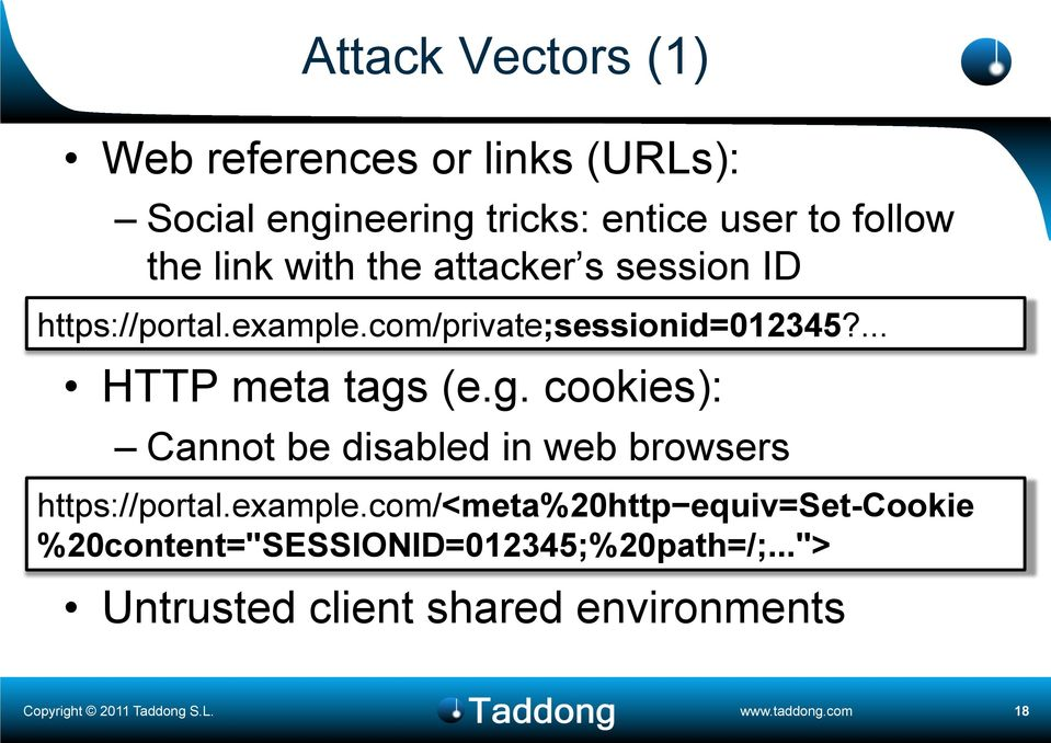 ... HTTP meta tags (e.g. cookies): Cannot be disabled in web browsers https://portal.example.