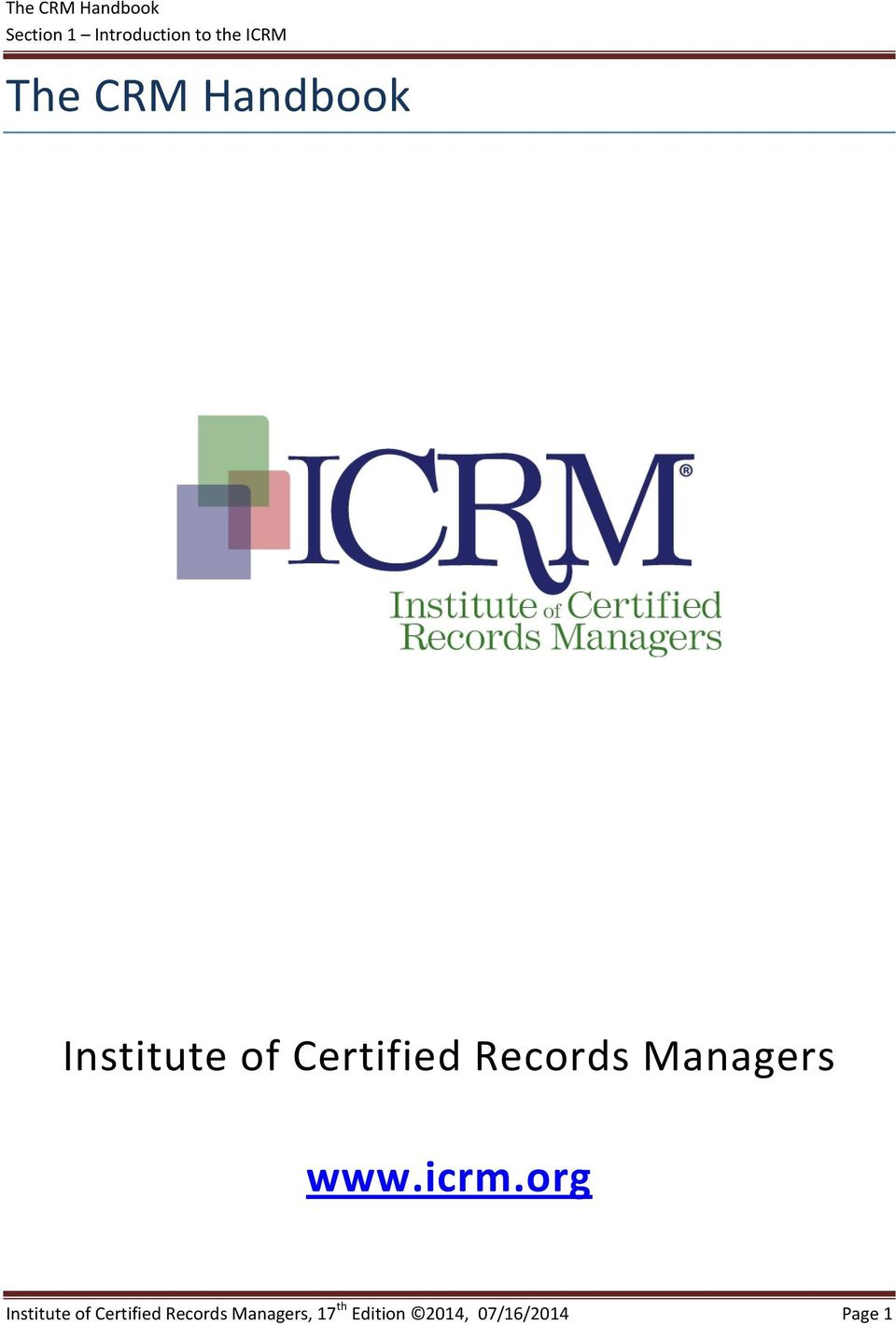 how to become a certified records manager
