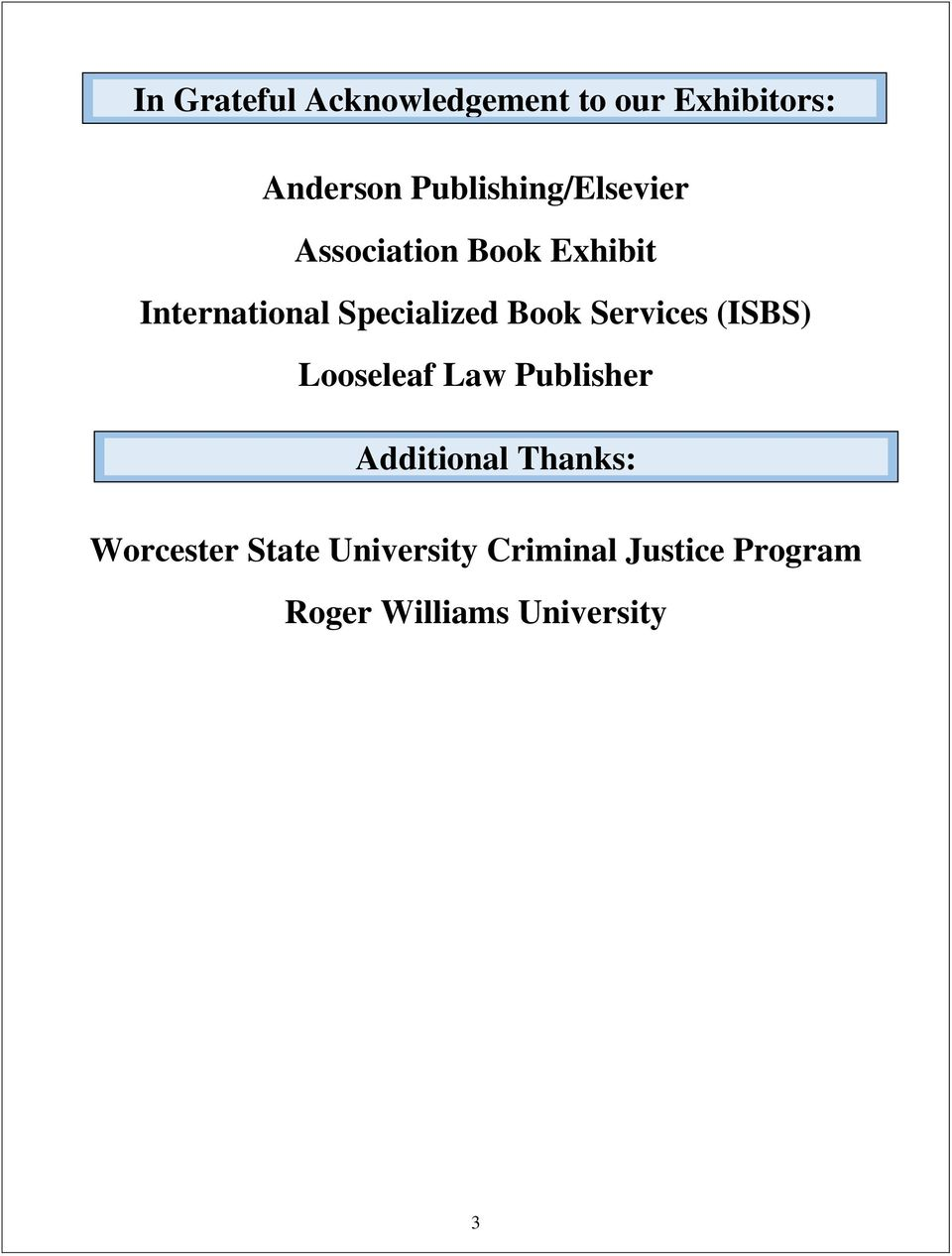 Specialized Book Services (ISBS) Looseleaf Law Publisher Additional