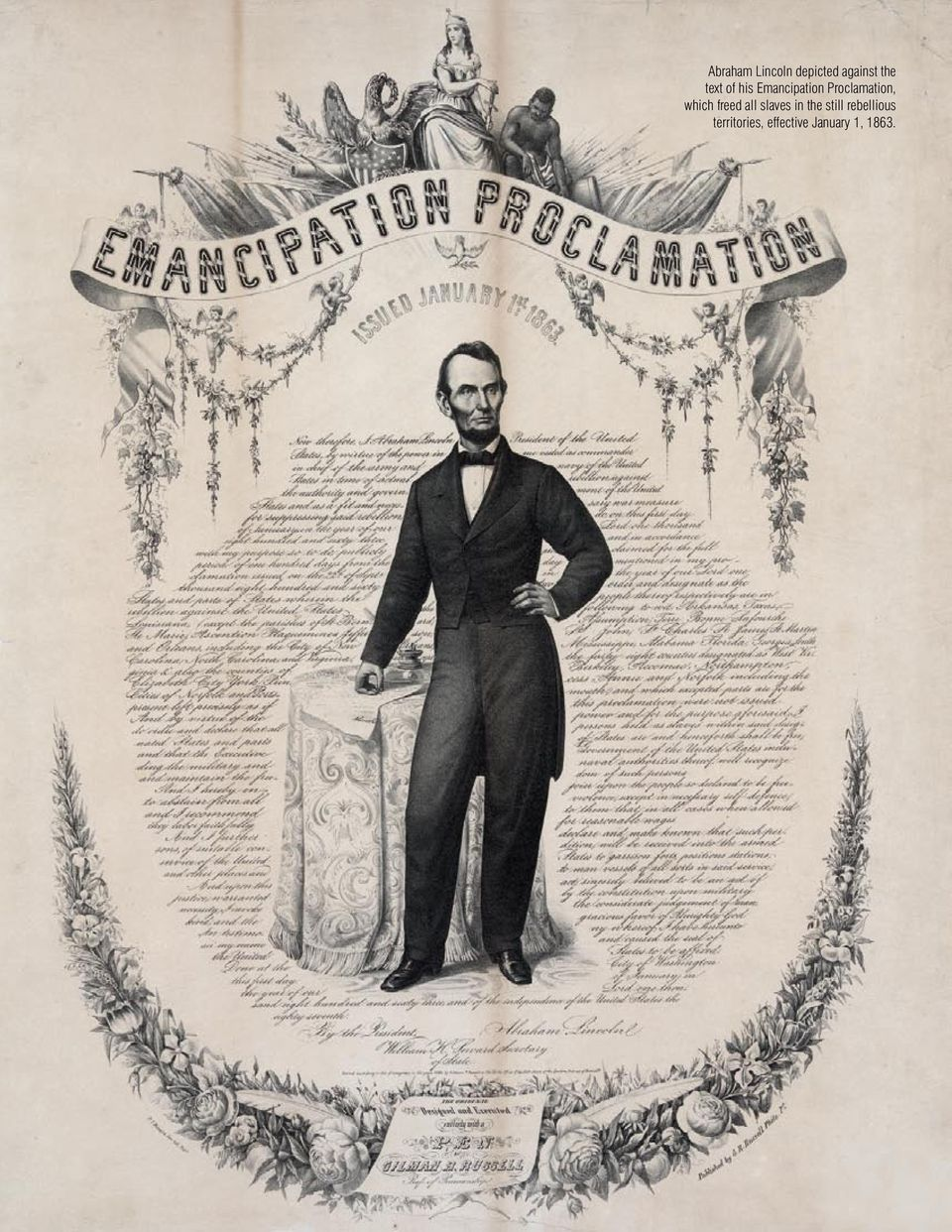CIVIL RIGHTS MOVEMENT Abraham Lincoln depicted