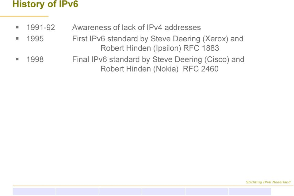 (Xerox) and Robert Hinden (Ipsilon) RFC 1883 1998 Final