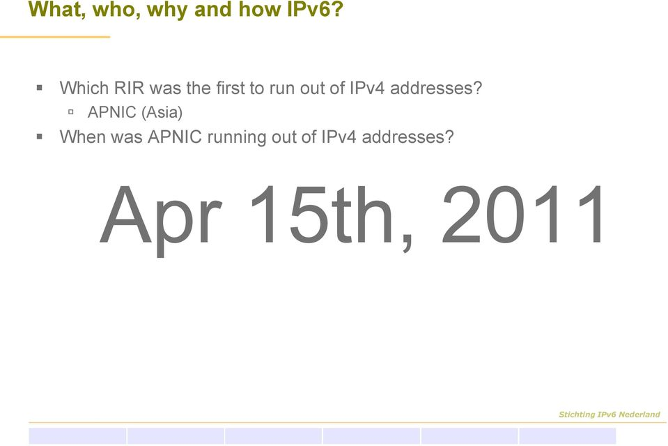 IPv4 addresses?