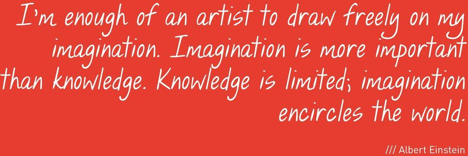 Imagination is more important than knowledge.