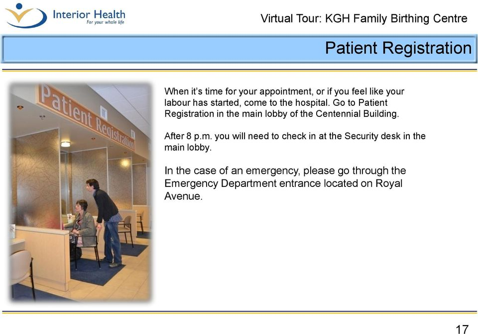 Go to Patient Registration in the ma