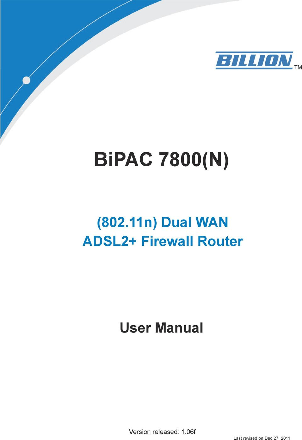 Router User Manual Version