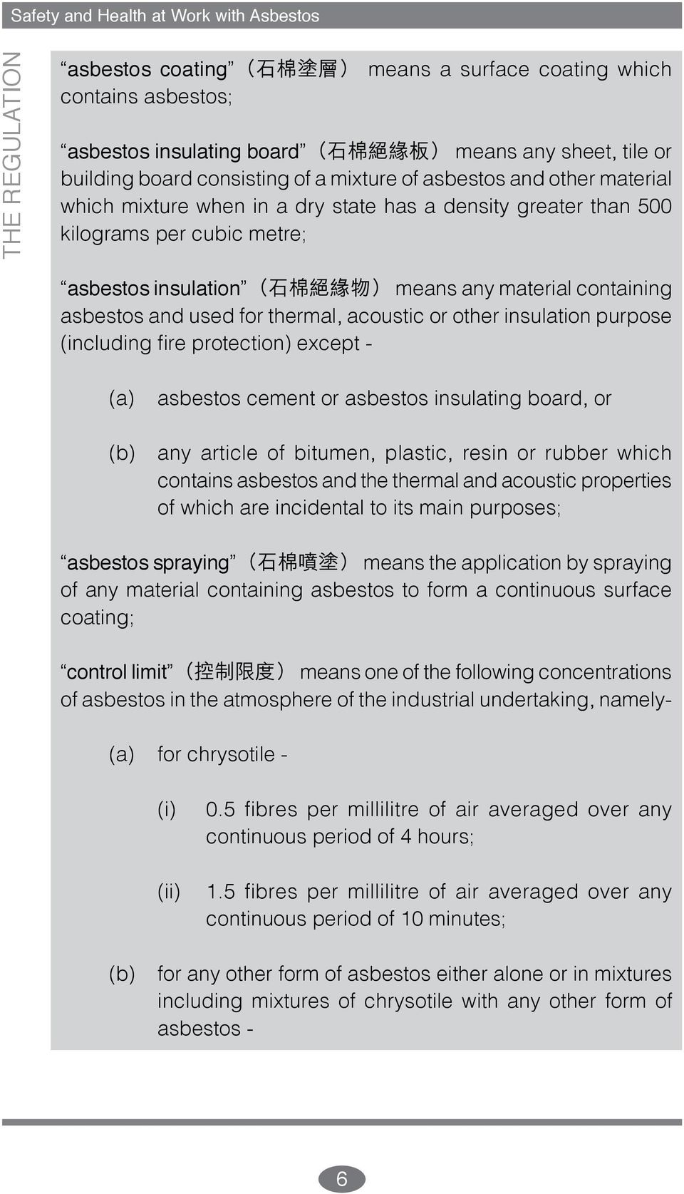 means any material containing asbestos and used for thermal, acoustic or other insulation purpose (including fire protection) except - (a) asbestos cement or asbestos insulating board, or (b) any