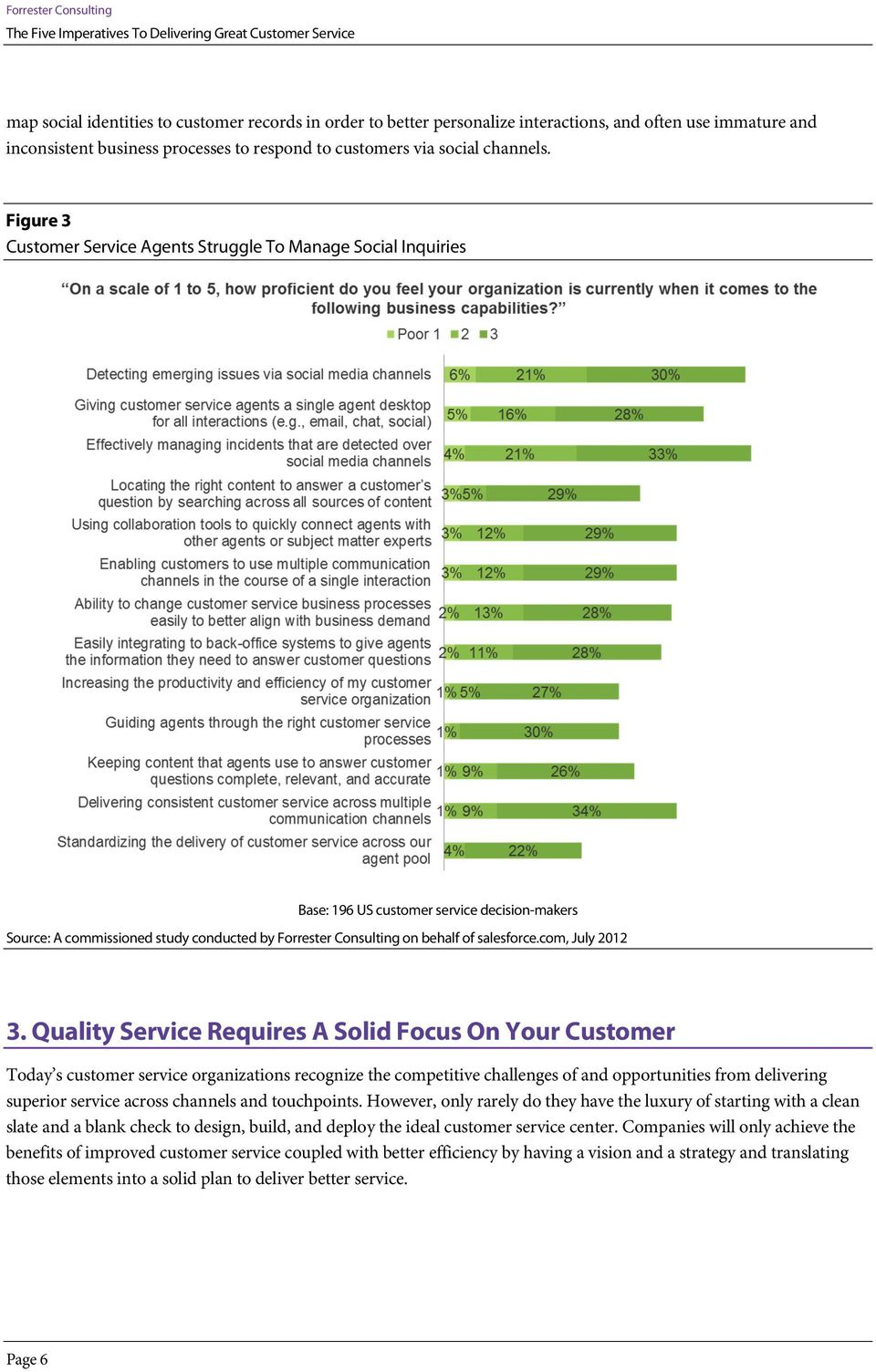 Quality Service Requires A Solid Focus On Your Customer Today s customer service organizations recognize the competitive challenges of and opportunities from delivering superior service across