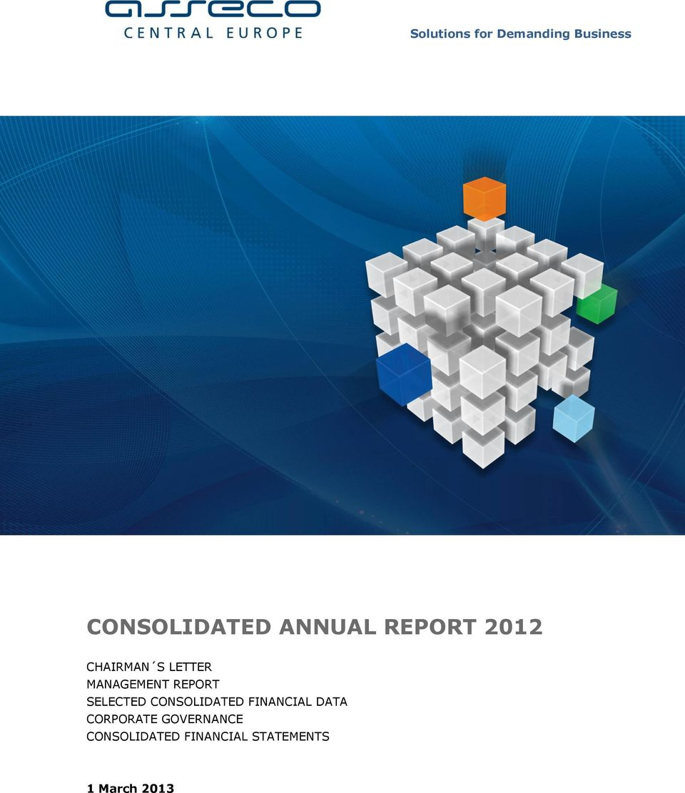 REPORT SELECTED CONSOLIDATED FINANCIAL DATA