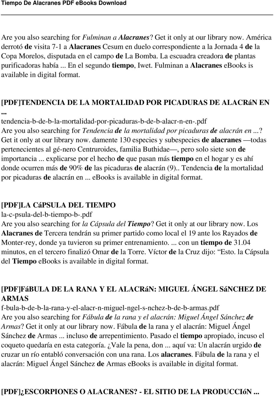 Leccion 4 ebook 80 off choice image free ebooks and more tiempo de alacranes pdf pdf fulminan a alacranes ebooks is available in fandeluxe choice image fandeluxe Image collections