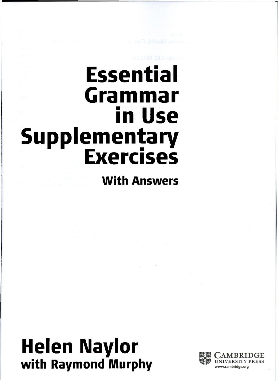 Exercises With Answers