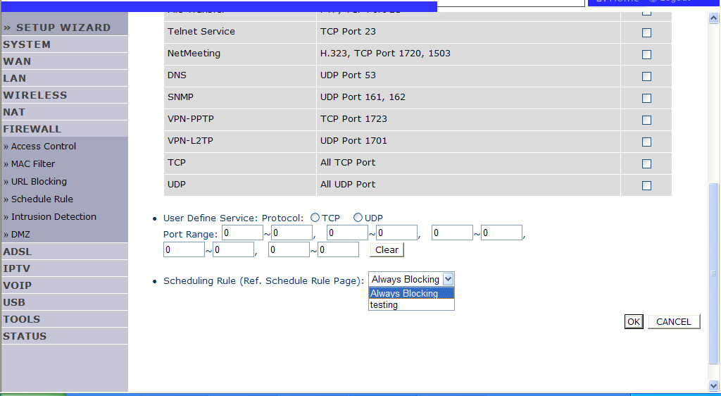 CONFIGURING THE VOIP ADSL ROUTER To add the PC to the filtering table: 1. Click Add PC on the Access Control screen. 2.