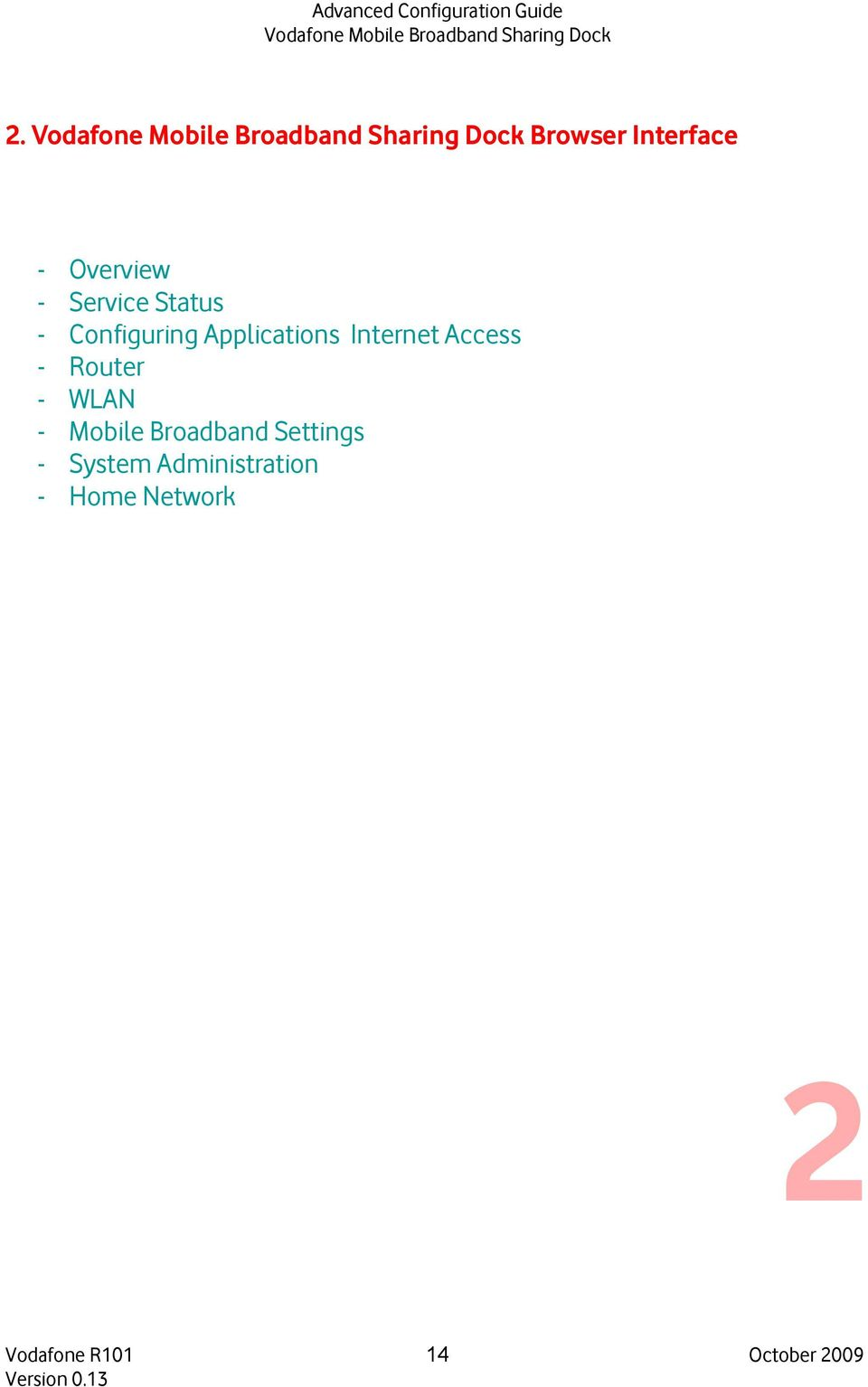 WLAN - Mobile Broadband Settings - System