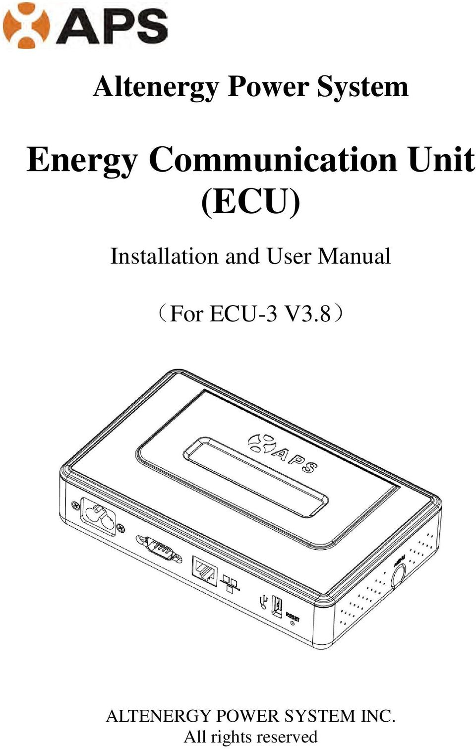 Installation and User Manual (For