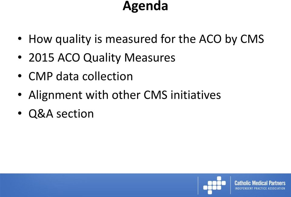 Measures CMP data collection