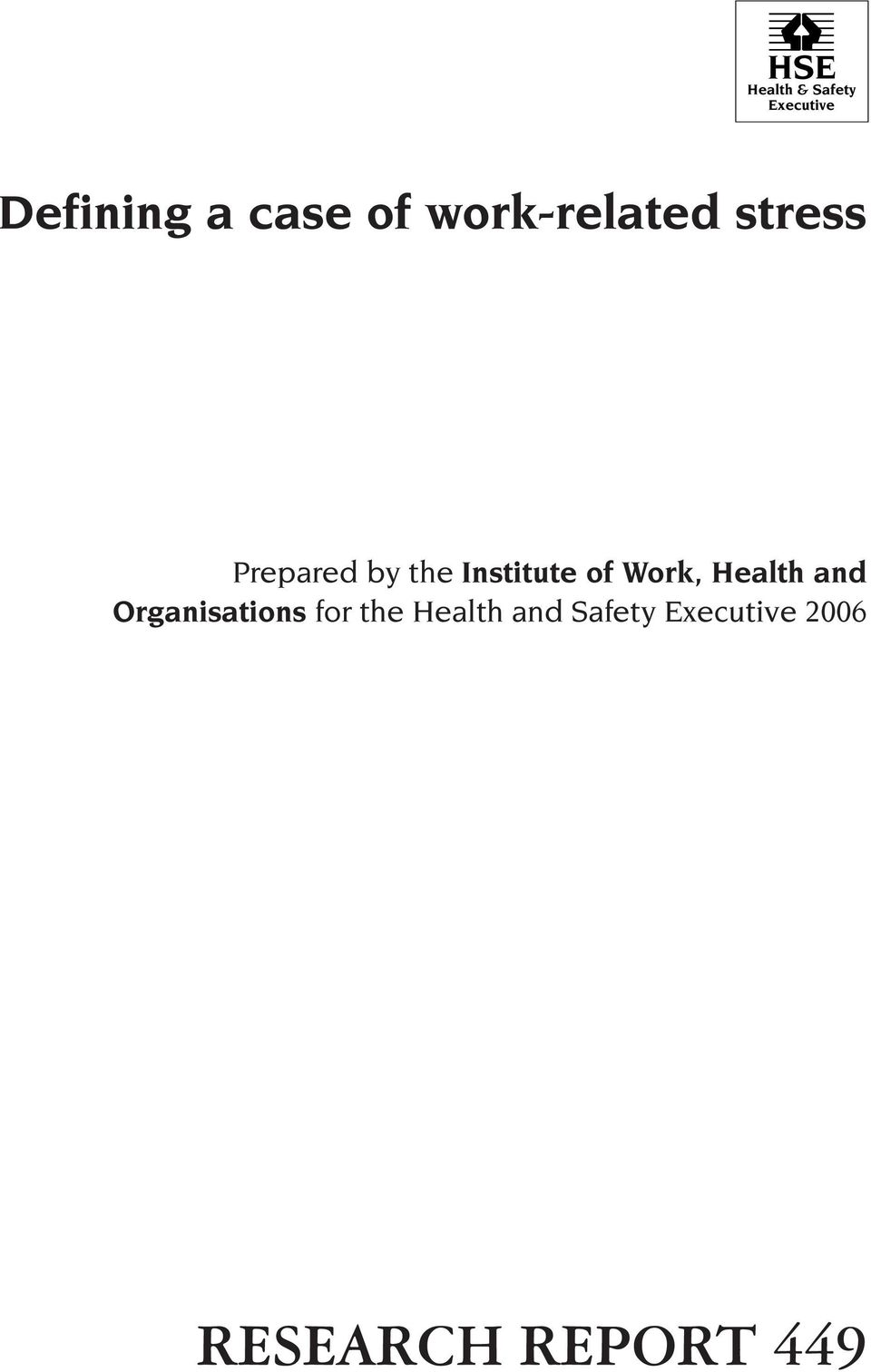 Institute of Work, Health and Organisations for