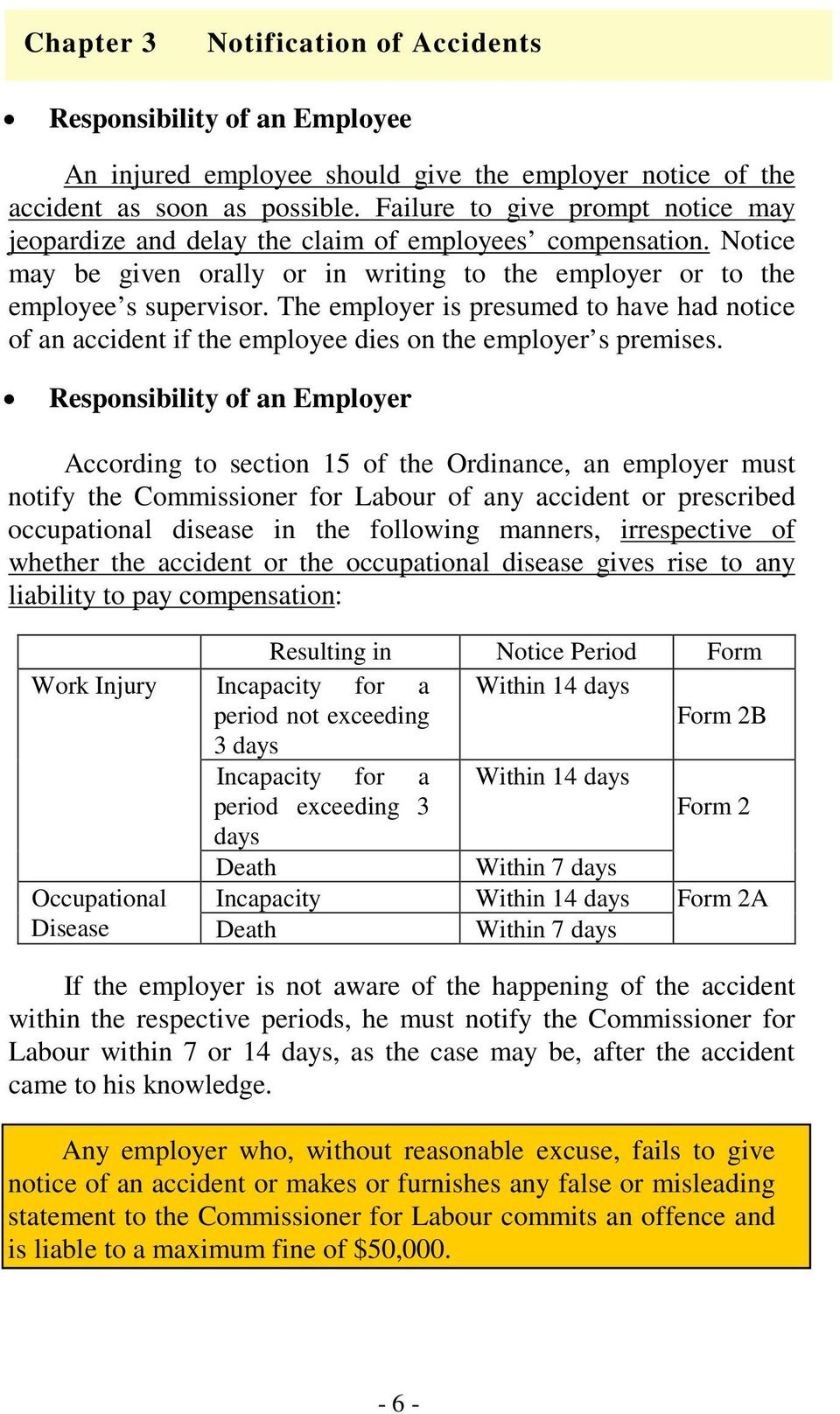 The employer is presumed to have had notice of an accident if the employee dies on the employer s premises.