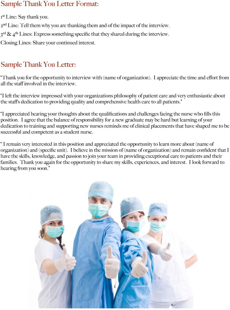nursing interview success packet pdf sample thank you letter thank you for the opportunity to interview of