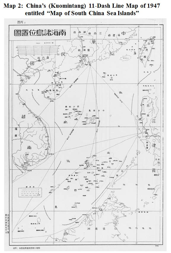3 The Dashed-Line Maps Origins and Evolution Although China has not provided an official account, the first dashed-line map is widely reported by scholars and commentators to pre-date the existence