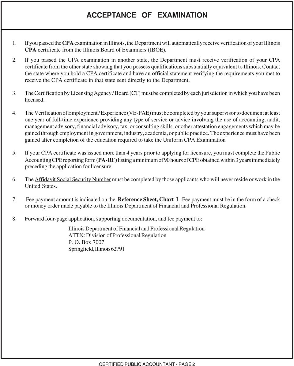 Instruction sheet licensed certified public accountant pdf if you passed the cpa examination in another state the department must receive verification of 1betcityfo Image collections