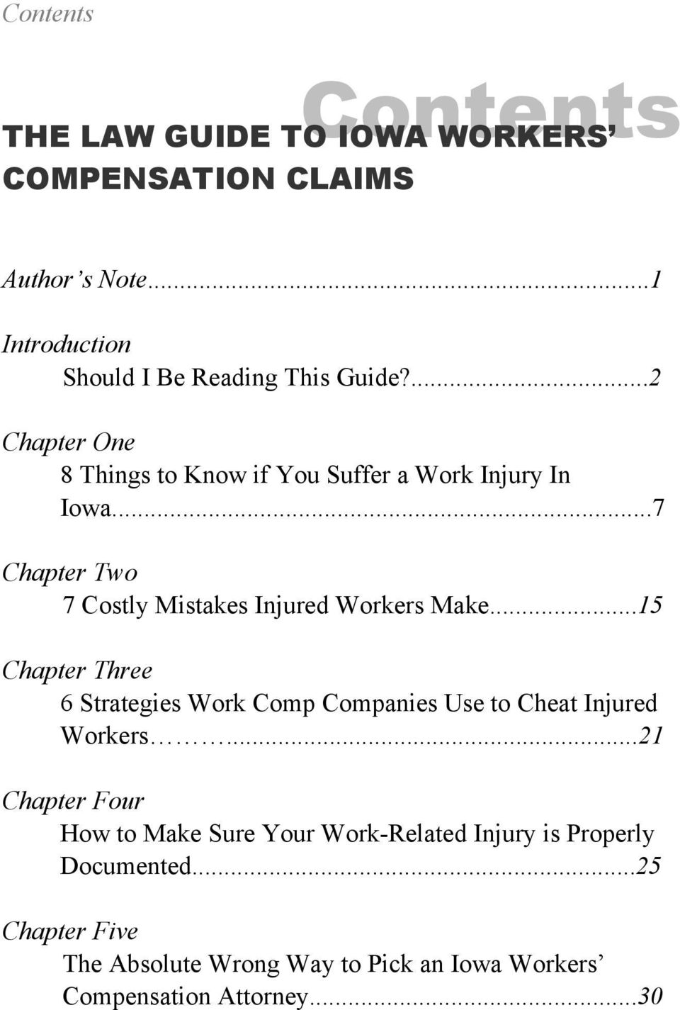 ..15 Chapter Three 6 Strategies Work Comp Companies Use to Cheat Injured Workers.