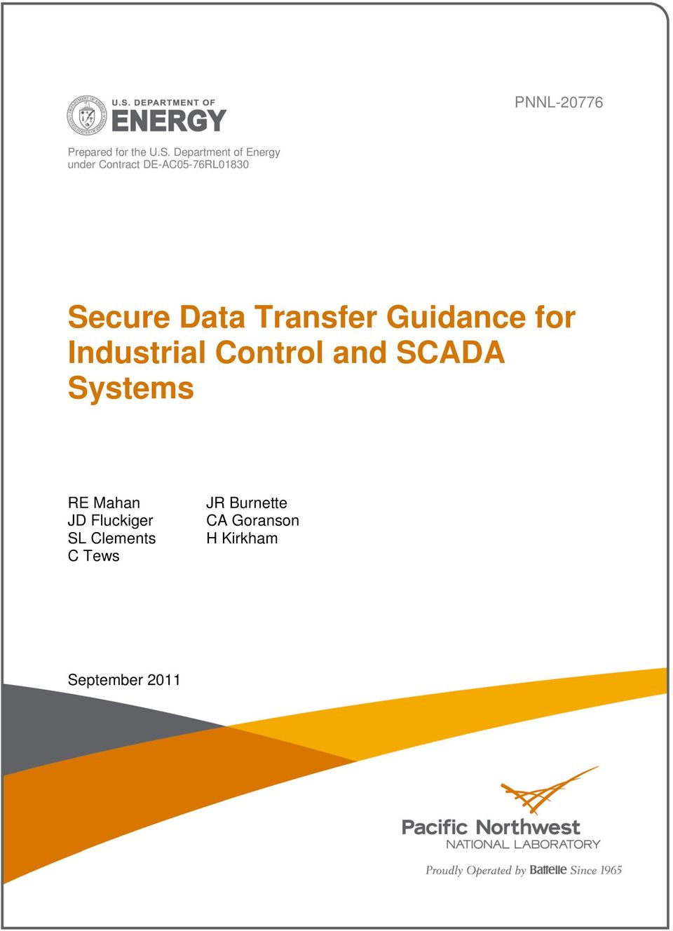 Data Transfer Guidance for Industrial Control and SCADA