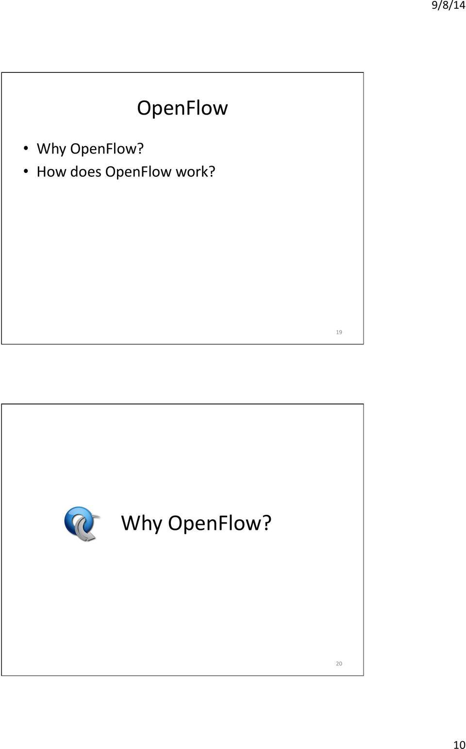 How does OpenFlow