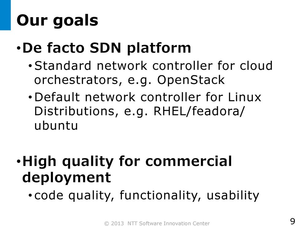 OpenStack Default network controller for Linux Distributions, e.