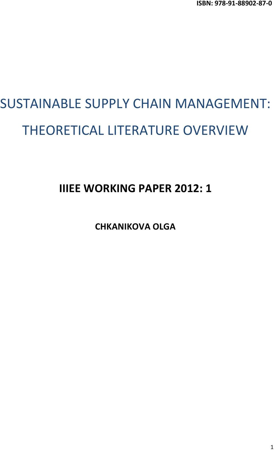 green supply chain management dissertation Dissertations, theses, and student research from the college of business business, college of  table 21 categories of green supply chain management from literature (zhu and sarkis, 2004)  brown et al (2001) suggests two main types of green supply management process: greening the supply process and product-based green supply greening.