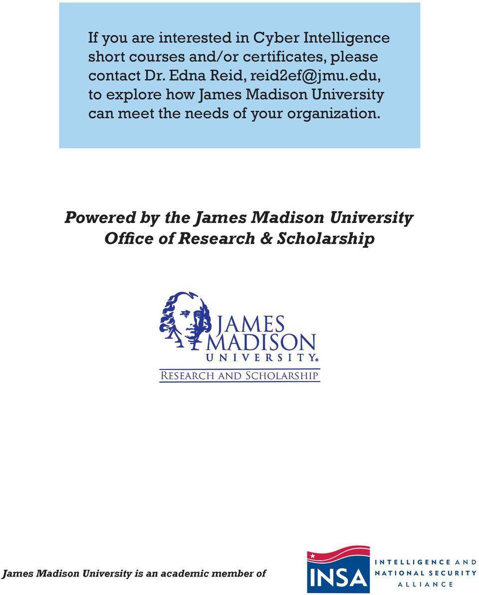 edu, to explore how James Madison University can meet the needs of your