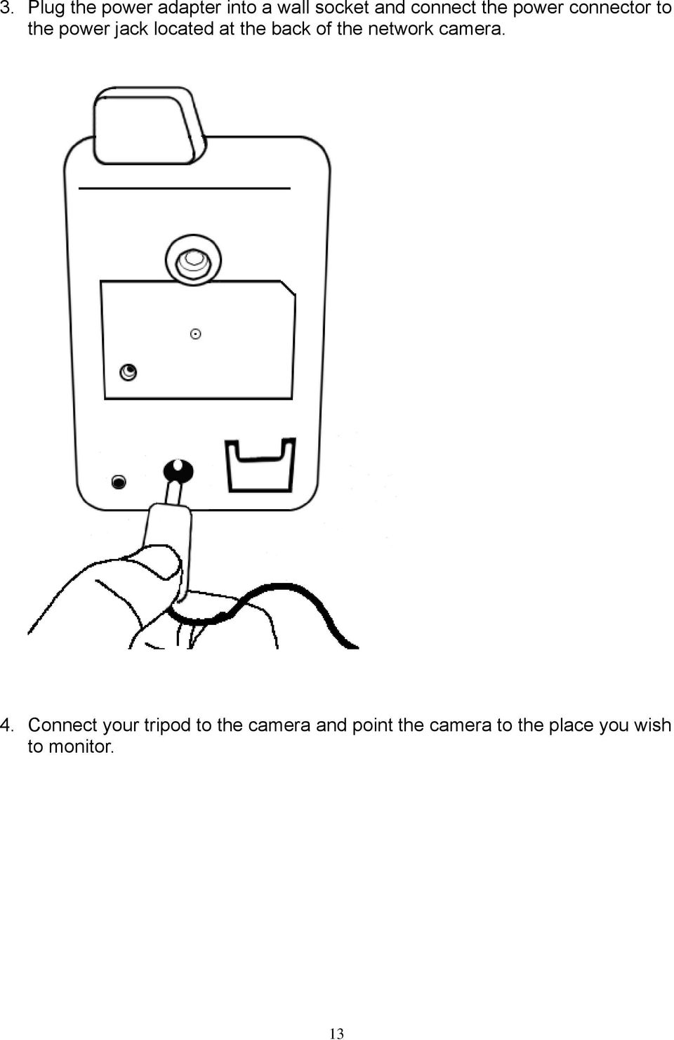 of the network camera. 4.