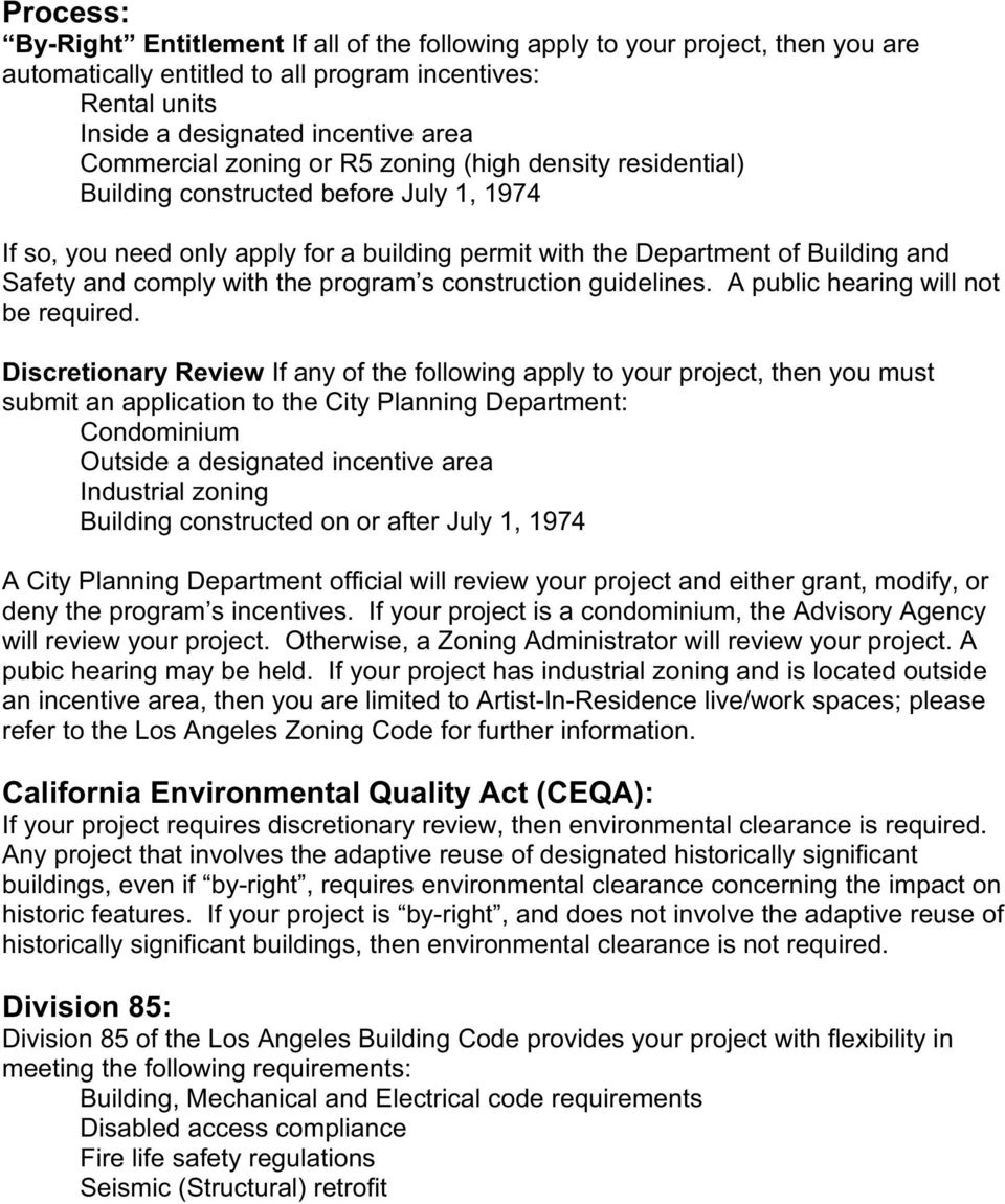 program s construction guidelines. A public hearing will not be required.
