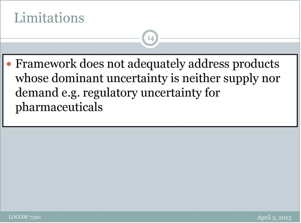 dominant uncertainty is neither supply