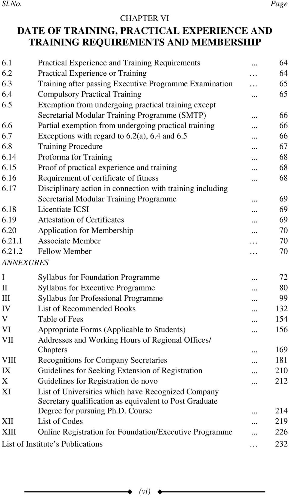 4 Compulsory Practical Training... 65 6.5 Exemption from undergoing practical training except Secretarial Modular Training Programme (SMTP)... 66 6.