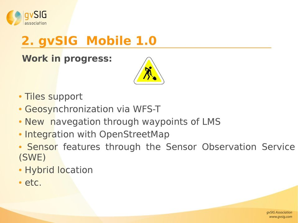 WFS-T New navegation through waypoints of LMS Integration
