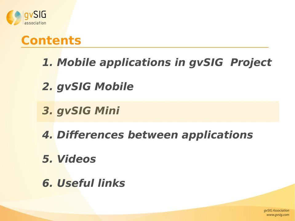 Project 2. gvsig Mobile 3.