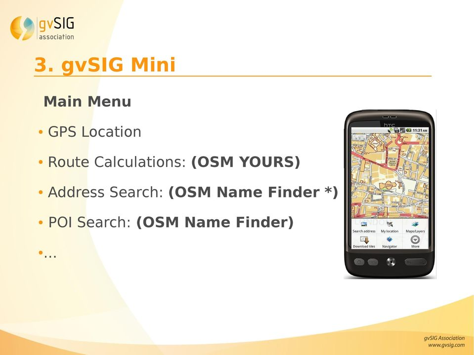 YOURS) Address Search: (OSM Name